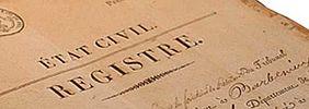 registres d'état civil