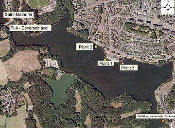 Les points d'analyse sur les étangs
