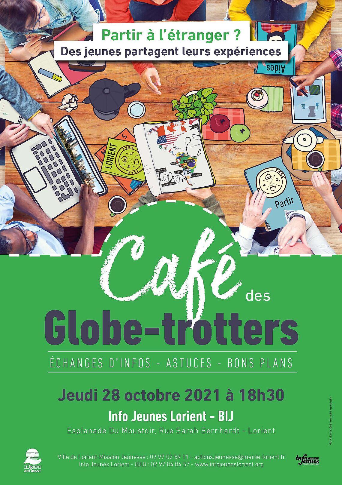 Café des globe trotters le 28 octobre