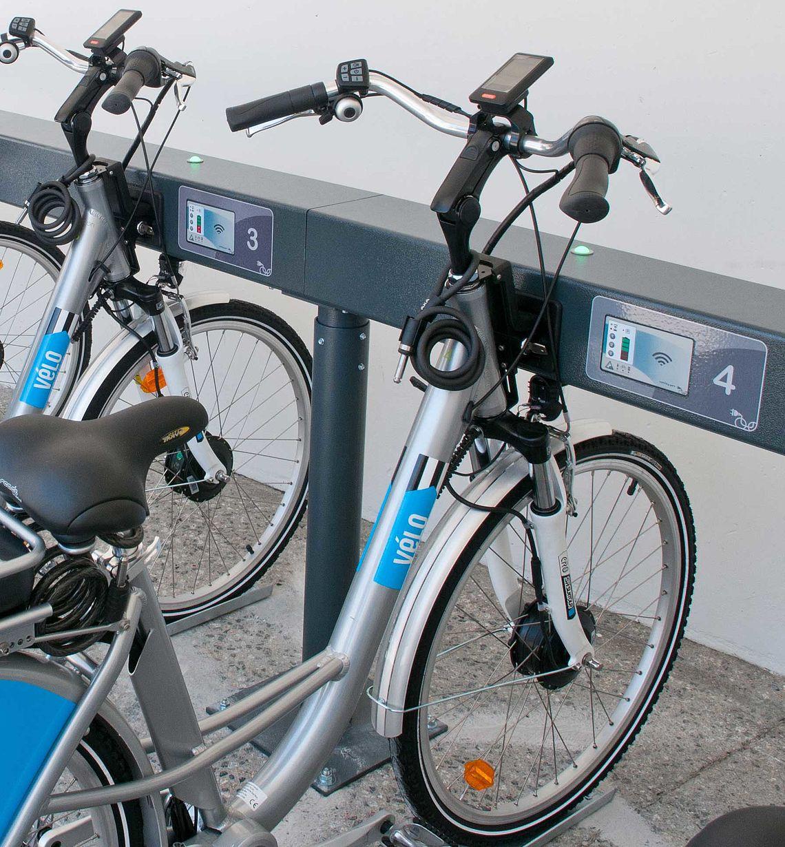 Vélos à assistance électrique en libre-service