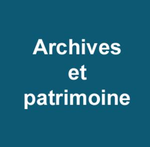 Archives et patrimoine