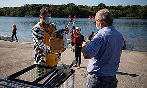 Fabrice Loher visite la base nautique du Ter