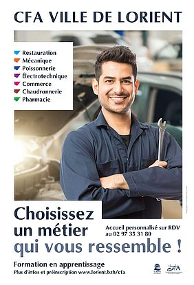 7 secteurs d'activité au CFA Ville de Lorient
