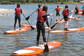 Séance de paddle