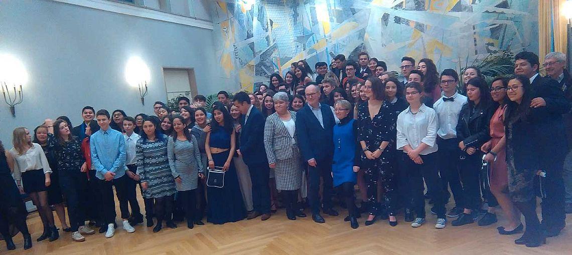 Le dernier groupe mexicain reçu en mairie en 2018