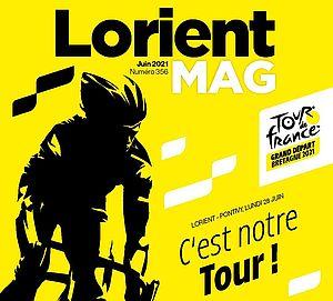 Couverture du Lorient mag de juin