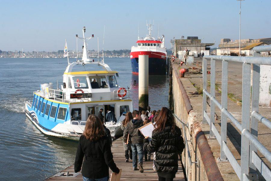 Embarquement rade de Lorient ©Maison de la Mer