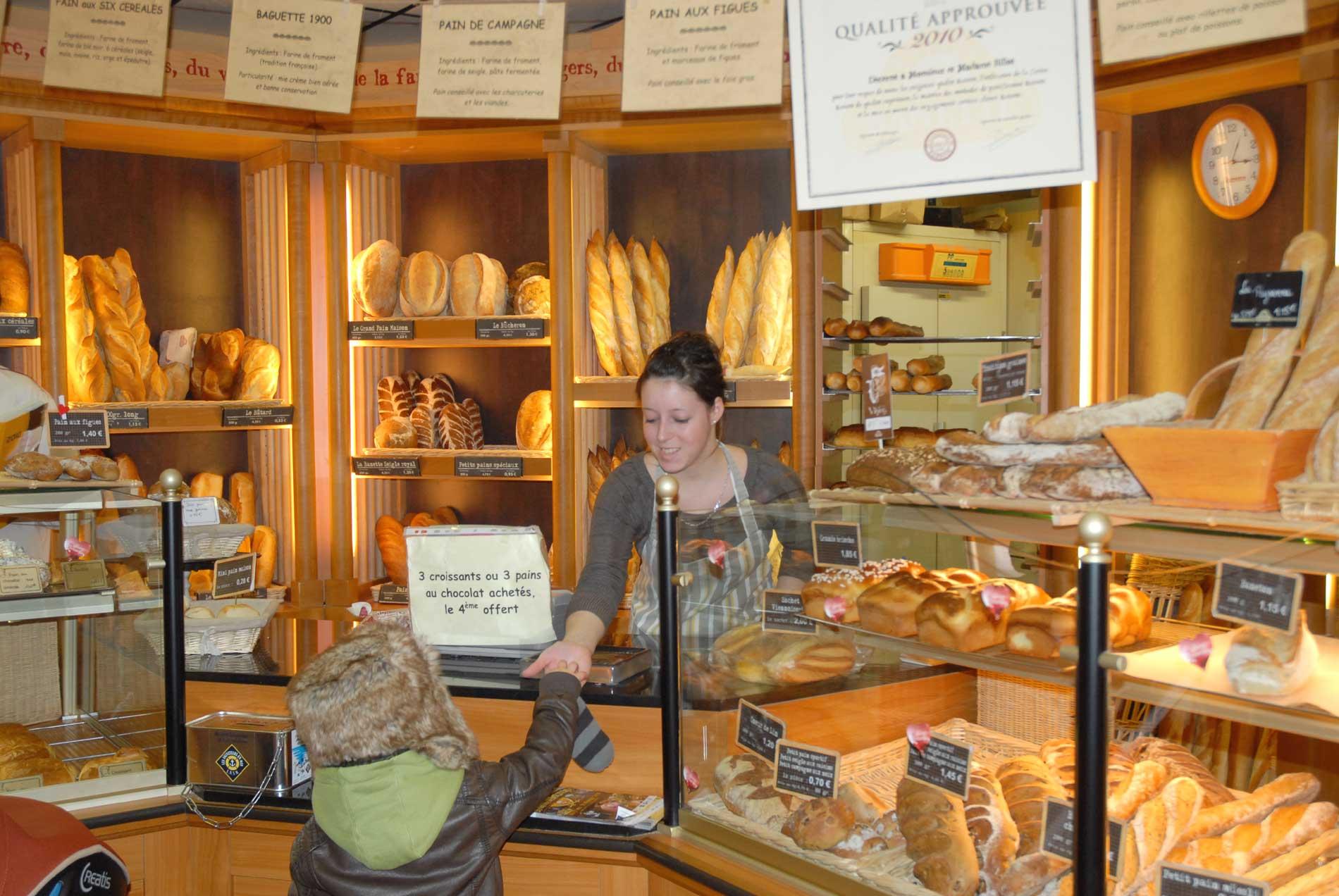 Vente en boulangerie