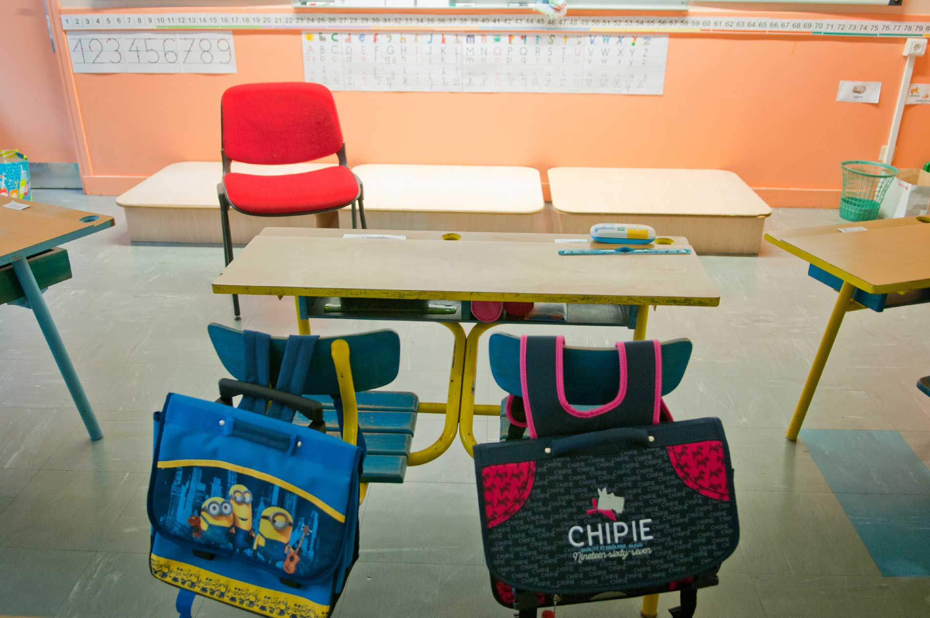 Salle de classe à Kersabiec
