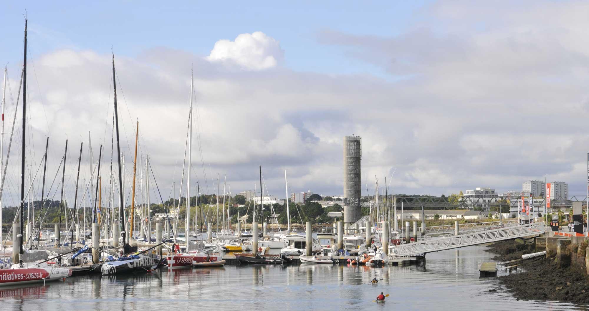 Le port à Lorient La Base en 2018