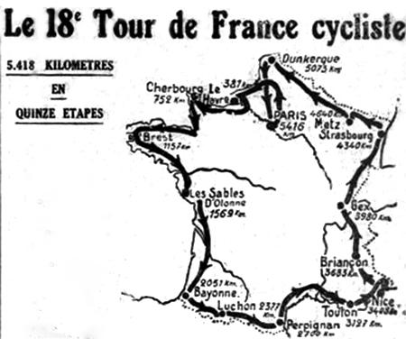 Parcours du Tour 1924 - image  DR