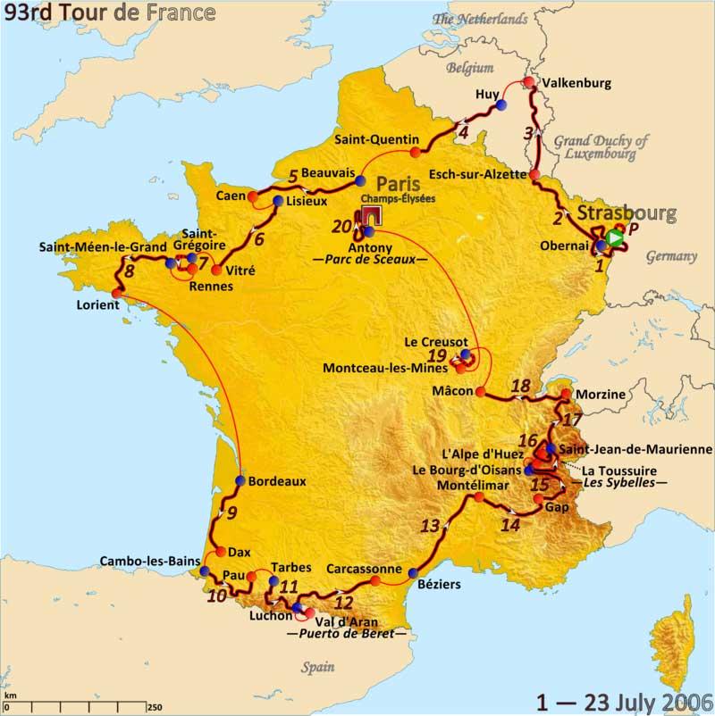 Parcours du Tour 2006 - image DR