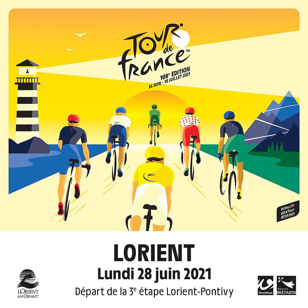 Affiche officielle du Tour de France 2021