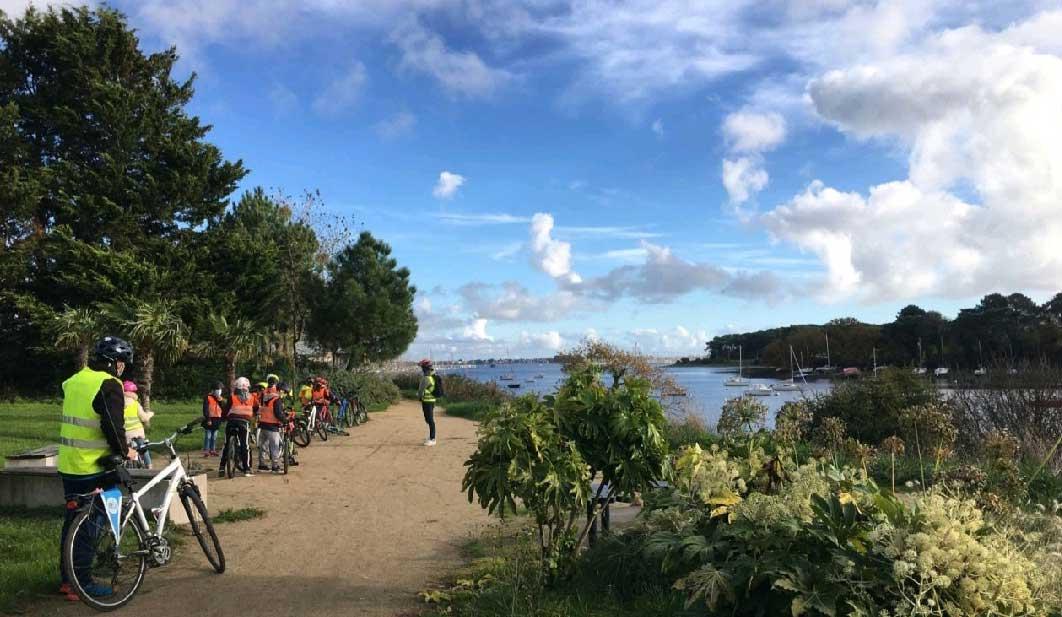 Ecole du vélo en sortie à Kermelo