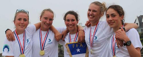 Trophées des sports - l'équipe féminine de l'Aviron du Scorff