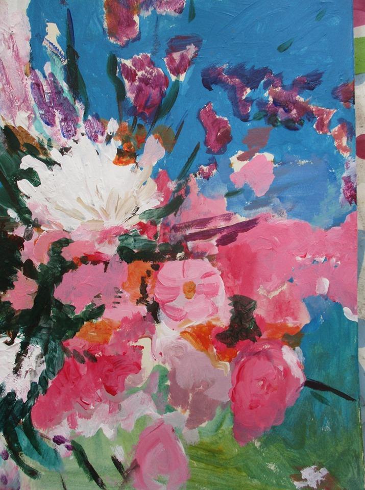 Peinture acrylique Elisabeth