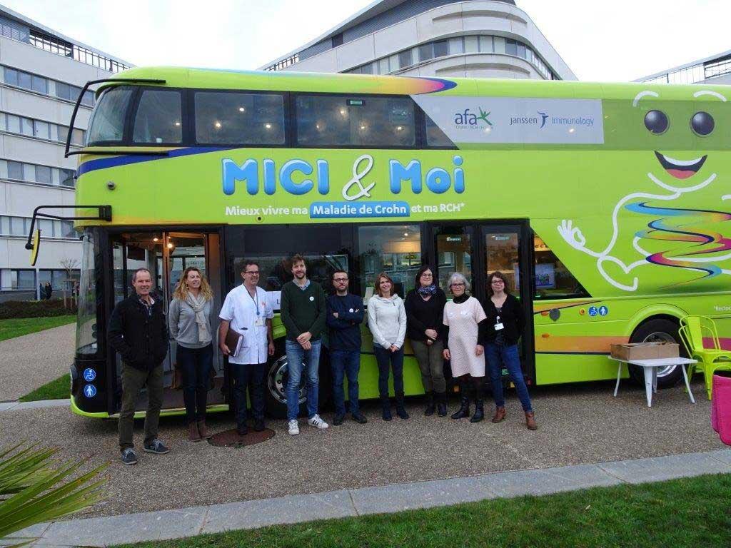 Bus d'information sur la maladie de Crohn à Lorient