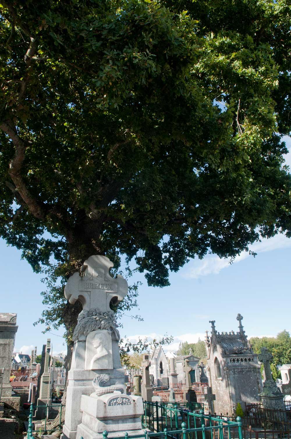 La tombe d'Auguste Brizeux au cimetière de Carnel