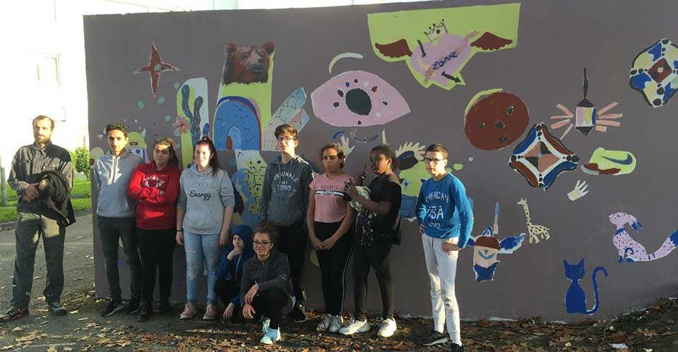 Graff collectif à Lanveur