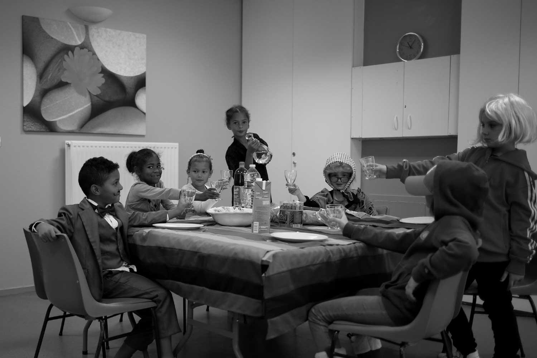 Droit à une famille - repas en commun