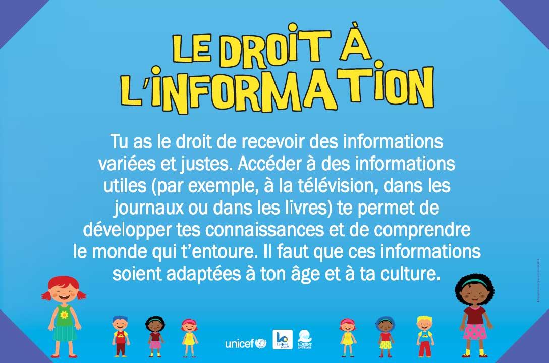 Droit à l'information