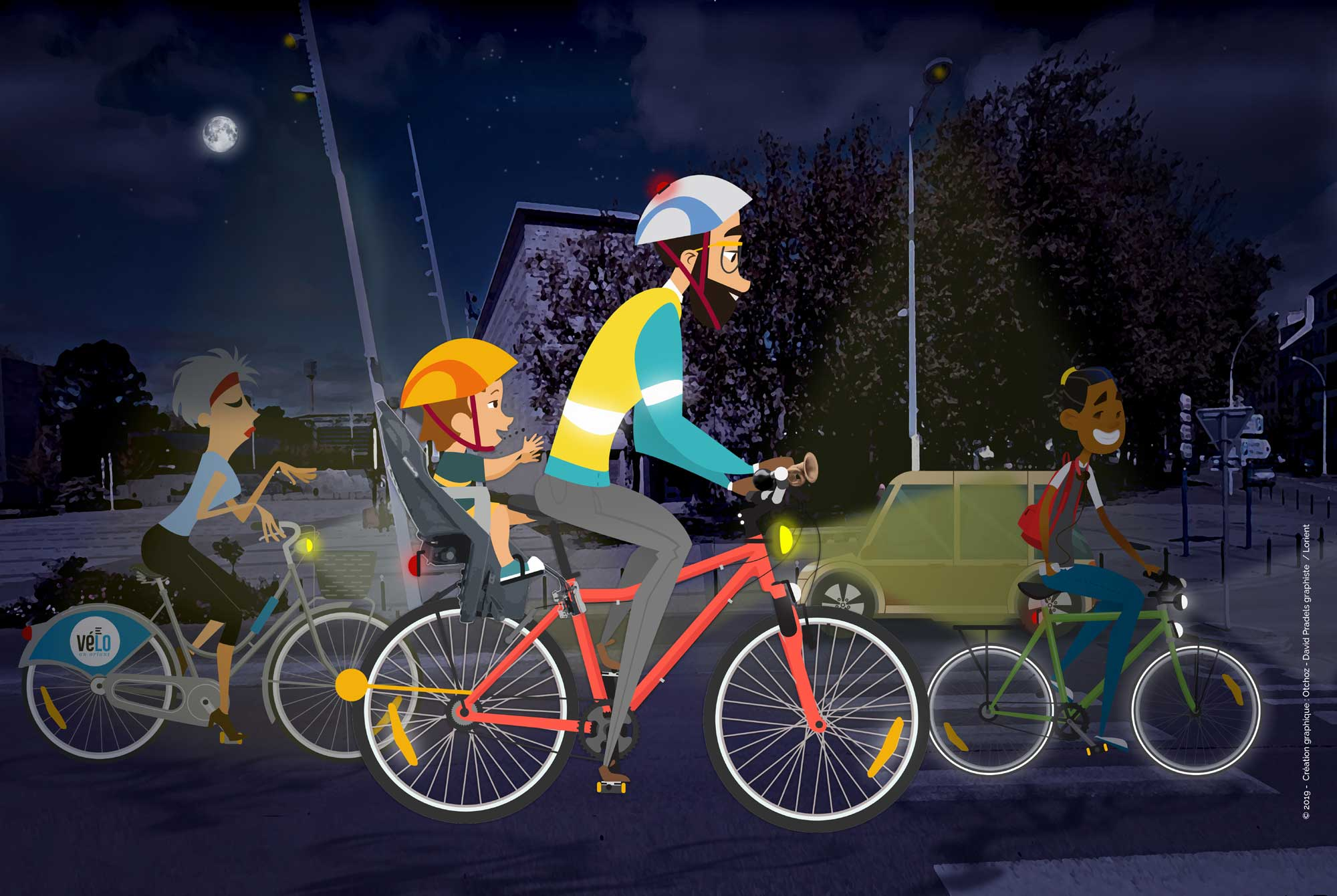 Les bons équipements à vélo