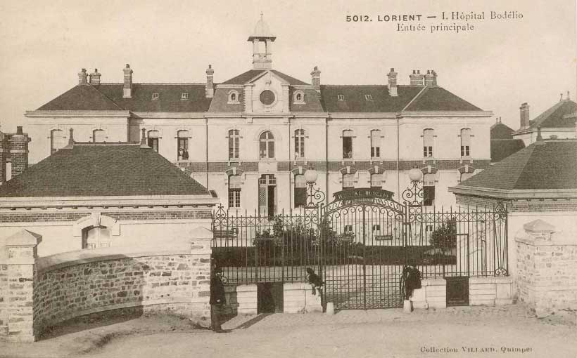Le premier hôpital Bodélio - 1906