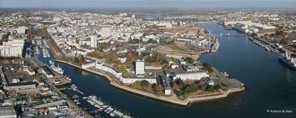 Vue aérienne de l'Enclos du port - concertation