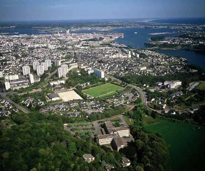 Vue aérienne du quartier