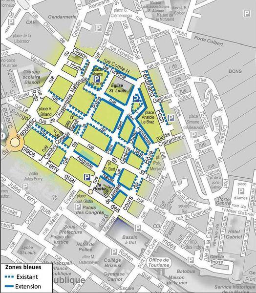 Zones bleues du centre-ville