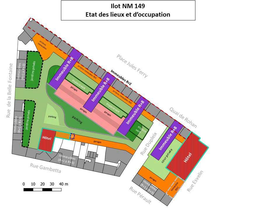 Plan de situation de l'îlot NM149