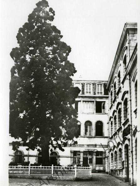 cour de la mairie d'avant-guerre