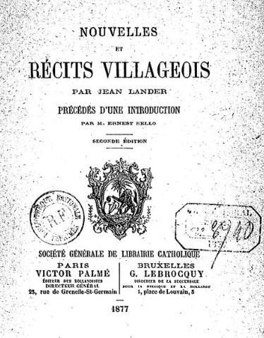 Livre de Zoé Berthier, dite Jean Lander