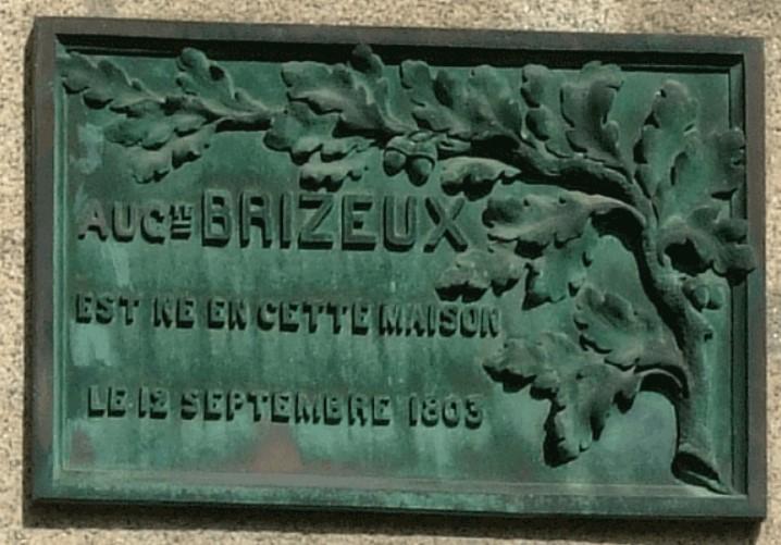 Plaque Auguste Brizeux