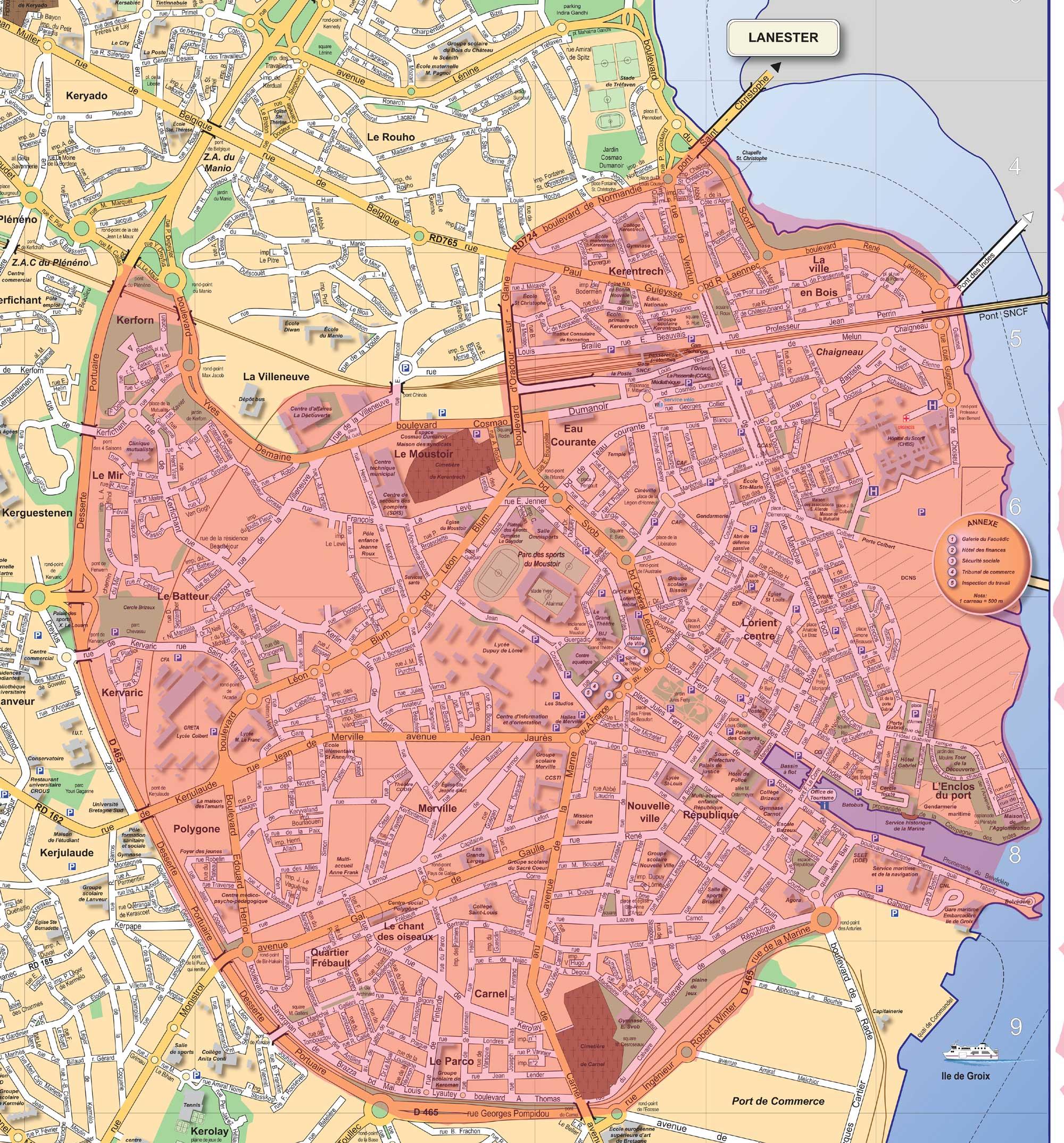 Périmètre de l'opération de revitalisation du territoire (ORT). Cliquer pour agrandir
